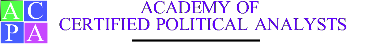 ACADEMY OF POLITICAL SCIENCE CERTIFIED